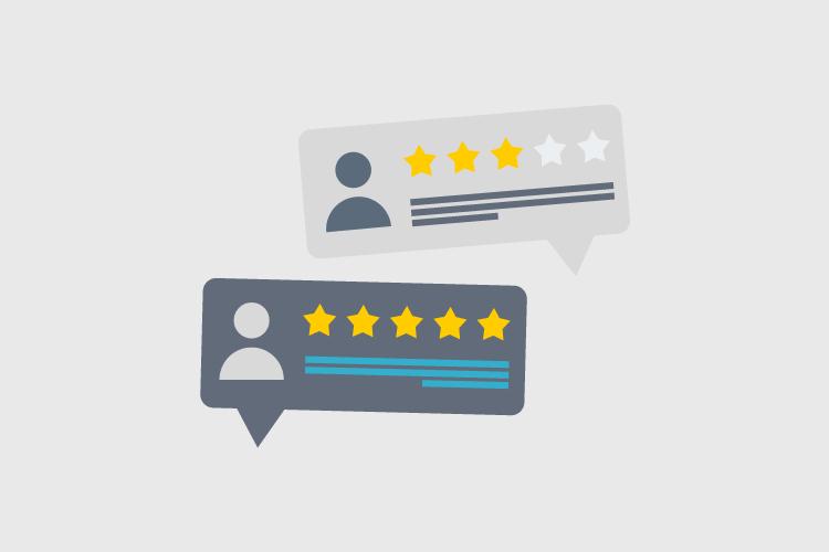 avaliações de comprador e vendedor